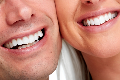 two people smiling cosmetic dentistry