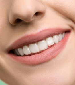 closeup of a smiling mouth